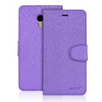 Чехол портмоне подставка на силиконовой основе на магнитной защелке для Meizu M3 Note Фиолетовый