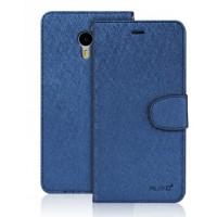 Чехол портмоне подставка на силиконовой основе на магнитной защелке для Meizu M3 Note Синий