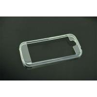 Силиконовый полупрозрачный бампер для Yotaphone 2 Белый