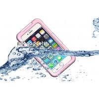 Водонепроницаемый силикон-пластик чехол для Iphone 6 Розовый