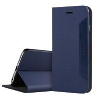 Чехол флип подставка с кожаной прошивкой для Iphone 6 Синий
