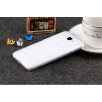 Силиконовый матовый полупрозрачный чехол для Huawei Honor 5A/Y5 II Белый