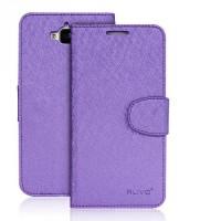 Чехол портмоне подставка на силиконовой основе на магнитной защелке для Huawei Honor 4C Pro Фиолетовый