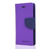 Чехол горизонтальная книжка подставка на силиконовой основе на дизайнерской магнитной защелке для Samsung Galaxy A3 (2016) Фиолетовый