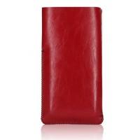 Кожаный мешок с логотипом для Samsung Galaxy S6 Edge Красный