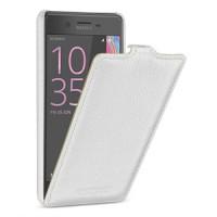Кожаный чехол вертикальная книжка (премиум нат. кожа) с крепежной застежкой для Sony Xperia X Performance