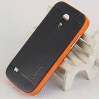 Двухкомпонентный премиум поликарбонат-пластик чехол для Samsung Galaxy S4 Mini Оранжевый
