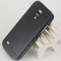 Двухкомпонентный премиум поликарбонат-пластик чехол для Samsung Galaxy S4 Mini Черный
