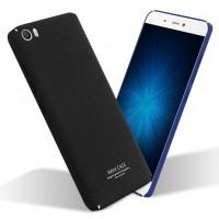 Пластиковый матовый чехол с повышенной шероховатостью для Xiaomi MI5 Черный