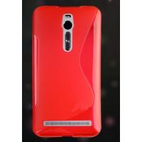 Силиконовый S чехол для Asus Zenfone 2 Красный