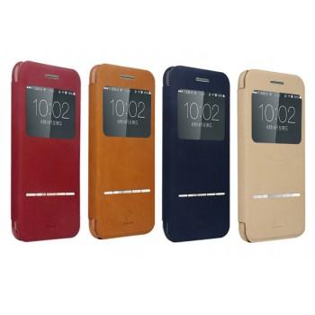 Чехол флип с окном вызова и сенсорной полоской принятия вызова для Iphone 6