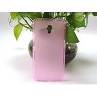 Силиконовый матовый полупрозрачный чехол для LG X Power Розовый