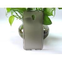 Силиконовый матовый полупрозрачный чехол для LG X Power Серый