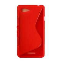 Силиконовый S чехол для Huawei Honor 7 Красный