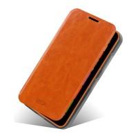 Глянцевый чехол флип подставка для Nokia Lumia 630 Коричневый