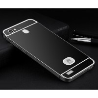 Двухкомпонентный чехол c металлическим бампером с поликарбонатной накладкой для Huawei GR3 Черный