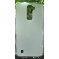 Силиконовый матовый полупрозрачный чехол для LG K10 Белый