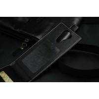 Клеевой чехол вертикальная книжка для Acer Liquid E700 Черный
