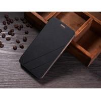 Текстурный чехол флип подставка на пластиковой основе для Lenovo S850 Черный