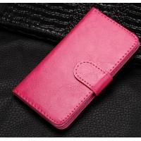 Чехол портмоне подставка на клеевой основе на магнитной защелке для BQ Strike Розовый