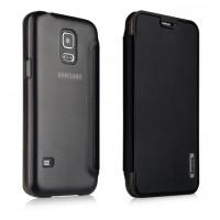 Тонкий чехол флип на пластиковой основе для Samsung Galaxy S5 Mini