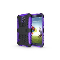 Силиконовый чехол экстрим защита для Samsung Galaxy S5 Mini Фиолетовый