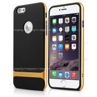 Силиконовый премиум чехол с поликарбонатным каркасным бампером для Iphone 6 Plus Желтый