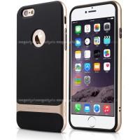 Силиконовый премиум чехол с поликарбонатным каркасным бампером для Iphone 6 Plus Бежевый