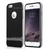 Силиконовый премиум чехол с поликарбонатным каркасным бампером для Iphone 6 Plus Серый