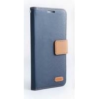 Текстурный чехол флип с дизайнерской застежкой для HTC Desire 626/628 Синий