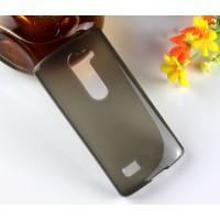 Силиконовый глянцевый полупрозрачный чехол для LG Leon Серый