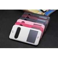 Чехол флип подставка на пластиковой основе с окном вызова, свайпом и защитой TouchID для Iphone 6 Plus