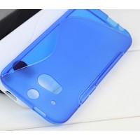 Силиконовый чехол S для HTC One 2 Голубой