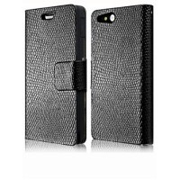 Чехол кожаный книжка горизонтальная для Sony Xperia go Черный