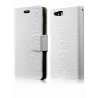 Чехол кожаный книжка горизонтальная для Sony Xperia go Белый