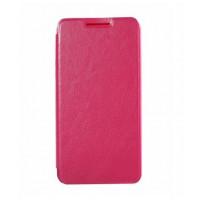 Винтажный чехол горизонтальная книжка подставка на пластиковой основе для Highscreen Power Ice Розовый