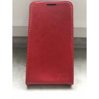 Кожаный чехол книжка для ZTE Grand S Красный