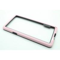 Бампер двухцветный для Samsung Galaxy S5 Розовый