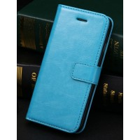 Чехол портмоне подставка с защелкой и отсеками для карт для Iphone 6 Plus Голубой