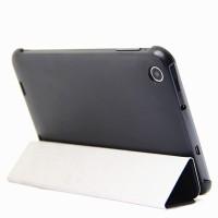 Чехол смарт флип подставка сегментарный на пластиковой основе для планшета Lenovo IdeaTab A3000 Черный