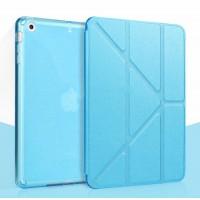 Оригами чехол книжка подставка текстура Узоры на полупрозрачной поликарбонатной основе для Ipad Pro Голубой