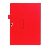 Чехол подставка с рамочной защитой экрана для Huawei MediaPad M2 10 Красный