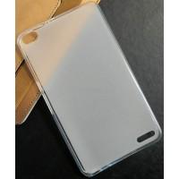 Силиконовый матовый полупрозрачный чехол для Huawei MediaPad X2 Белый