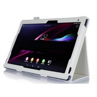 Чехол подставка с внутренними отсеками серия Full Cover для Sony Xperia Z2 Tablet Белый