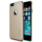 Пластиковый матовый чехол с лого-вырезом для Iphone 6 Plus