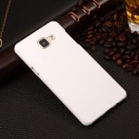 Пластиковый матовый непрозрачный чехол для Samsung Galaxy A5 (2016) Белый