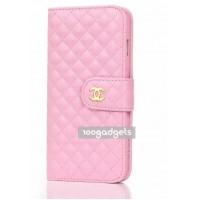 Чехол портмоне с отсеками для карт и магнитной защелкой для Iphone 6 Plus Розовый