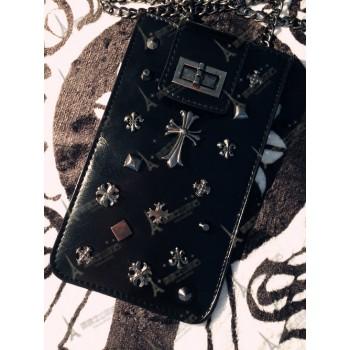 Мешок с металлической аппликацией ручной работы серия Dark Chrome для Iphone 6 Plus