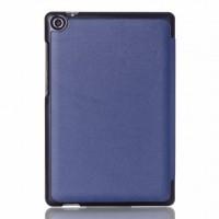 Чехол флип подставка сегментарный на поликарбонатной основе для ASUS ZenPad 8 Синий