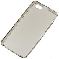 Силиконовый полупрозрачный чехол для Sony Xperia Z1 Compact Серый